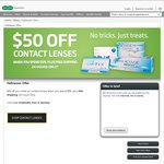 No Tricks, Only Treats $50 off $99 on Contact Lenses. Free Shipping. Ends Tonight @ Specsavers