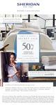 Sheridan Family & Friends Secret Sale 50% off 13-16 NOV + 10% off 6/11-13/11