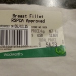RSPCA Approved Chicken Breast $4.50/kg @ Woolworths [Hilton, SA]