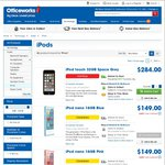 iPod Touch 6th Gen at Officeworks $284 for 32GB (RRP $349)