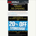 20% off Store Wide @ EB Games Frankston VIC