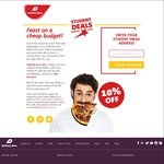 10% off Delivery Hero for Students (with Emails Ending in.edu.au) - No Minimum Spend