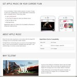 Apple Music FREE 12 Month Subscription for Telstra Mobile Plan Customers