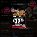 30% off Pizzas at Domino's (Excludes Value Range) Plus Other Coupons