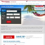 18% off Select Hotels @ Cheap Tickets