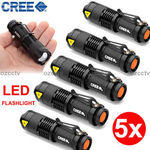 5x CREE LED Flashlight Zoomable Torch Black $17.90 Delivered (Local Stock) @ Ozcctv eBay Store