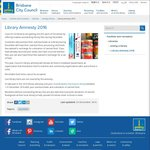 Brisbane City Council Library Amnesty - Fees Waived in Exchange for a Can of Food