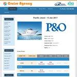 P&O Jewel 13 Jan 12 Night Cruise $656 Single. $584 Twin from Melbourne @ Cruise Agency