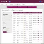 Qatar Airways Flights to Europe on Sale (around $1300 Return) until 16/01/17 (and Use Code VISA for Extra up to 15% off)