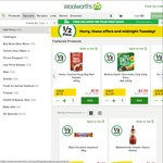 Woolworths 50%: Natural Confect. $2, Cadbury Fav $6, Cold Power 1L $5, Four N Twenty 4 Pack $4.32, Optus Starter Kit (From 15/3)