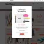 NoteMaker 15% off Everything Storewide for 24 Hours