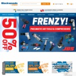 10% off $200+ Spend, 20% off $500+ Spend (Excluding Power Tools & Welding) @ Blackwoods Xpress