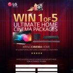 Win 1 of 5 LG Home Cinema Packages Worth $9,197 from Southern Cross Austereo