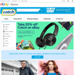 20% off Catch @ eBay (With Capped Shipping at $9.99)