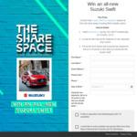 Win a Suzuki Swift GL Navigator Worth $18,490 from Sony Music