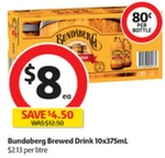 Bundaberg Ginger Beer 10x375ml Pack $8 @ Coles ($9.40 NSW, $9 SA/NT)