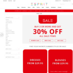 30% off When You Buy 3 or More Sale Items @ Esprit