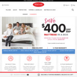 $400 off All Tontine Latex (from $499.99) and Memory Foam (from $399.99) Mattresses @ Tontine