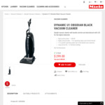 Miele Dynamic U1 Obsidian Black Vacuum Cleaner $299 (Was $799) Delivered @ Miele