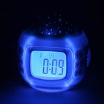 Colorful Starry Sky Projection LED Alarm Clock $7.71+Free Shipping - TinyDeal.com