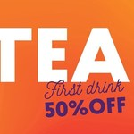 50% off First Drink @ Chatime via Loyal-Tea App