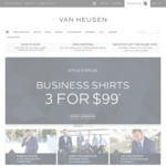Business Shirts: 3 for $99 + $9.95 Shipping (Free Shipping over $100) @ Van Heusen (Online Only)
