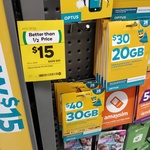 Optus $40 Pre-Paid Sim Starter Kit for $15 @ Woolworths