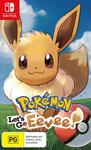 [Switch] Pokemon Let's Go Eevee/Pikachu $59 Delivered @ Amazon AU