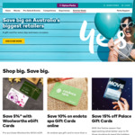Discounted eGift Cards: Woolworths 5% off, City Beach 10% off, Endota-Spa off 10% off, Palace Cinema 15% off @ Optus Perks