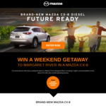 Win a 3N Stay in Margaret River & $2,000 Spending Money from Mazda [WA]
