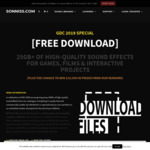 [Free Download] 25GB+ of high quality sound effects for games, films and interactive projects
