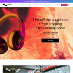 15% off ANC Headphones, Free Analogue Cable & Shipping @ Nuraphone