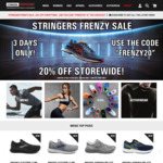 20% off Storewide (Shipping from $9.50) @ Stringers Sports Online