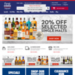 1,000 Bonus Points When You Click and Collect (Min Spend $20) @ First Choice Liquor Online