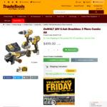 Dewalt 18V 6.0ah Brushless 3 Piece Combo Kit DCK341T1-XE $499 Delivered RRP $1195 (Save $696) @ TradeTools