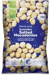 Woolworths Select Macadamias Sea Salt 200g $4.25 (Normally $8.50) @ Big W (In-Store/C&C Only)