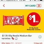$1 35-55g Nestle Medium Bar Varieties at 7-Eleven via Fuel App