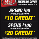 Spend $60 Get $10 / Spend $100 Get $20 in SCA Club Credit @ Supercheap Auto