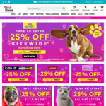 25% off Sitewide Including Sale Items (Excludes Flea, Tick, Worming & Prescription Foods) @ Pet House