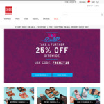 Click Frenzy Sale - Further 25% off Everything (Free Shipping over $99) @ Shoe Warehouse Online