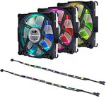 Inwin Aurora RGB Fan Black/White 120mm, 3pck, 2*LED Strip + Controller $65 (Save 50%) + Delivery @ CGB Solutions