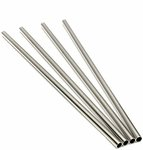 Stainless Steel Straws, Set of 4 for $9.95 Delivered @ Cocktail Kit