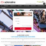 Win 1 of 4 $250 Adrenaline Vouchers from Adrenaline
