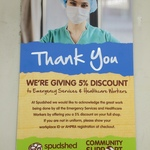 [WA] 5% Discount to Emergency Services & Healthcare Workers @ Spudshed
