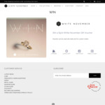 Win a $500 Jewellery Voucher from White November