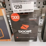 Boost Mobile $300 Prepaid Sim Pack (240GB Data) for $250 @ Officeworks (in Store)