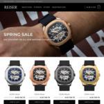 Reiser Watch Spring Sale 50% off @ Reister