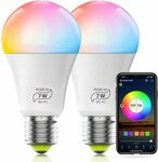 Haodeng Smart Colour Bulb 2 Pack $26.99 + Delivery ($0 with Prime/ $39 Spend) at HaoDeng Bulbs Amazon AU