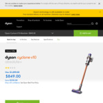 Dyson V10 Absolute+ $649, V8 Absolute $449 Delivered @ Dyson Australia
