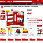 Milwaukee 32 Bit Impact Driver Bit Set $14.95 (In-Store Only) @ Sydney Tools